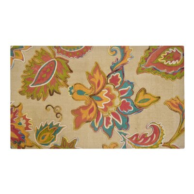 Fairbanks Floral Cream/Pink Area Rug Rug Size: Rectangle 23 x 38