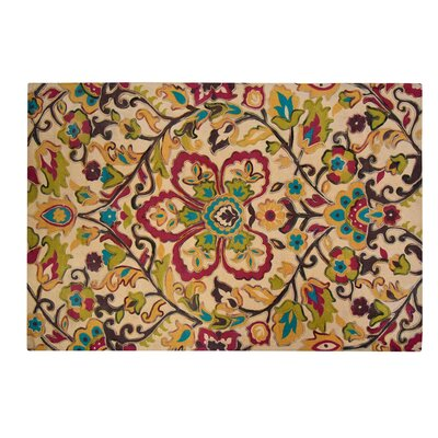 Czerwinski Floral Mess Yellow/Red Area Rug