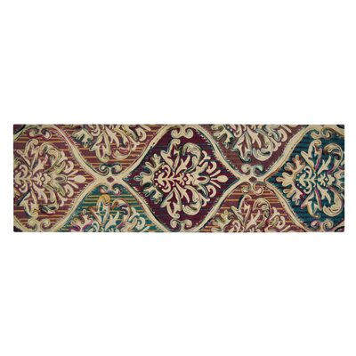 Faircloth Brown/Green Area Rug Rug Size: Runner 16 x 5