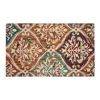 Faircloth Brown/Green Area Rug Rug Size: Rectangle 23 x 38