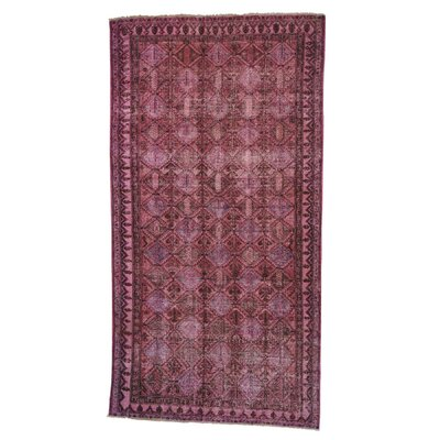 One-of-a-Kind Govan Oriental Overdyed Worn Hamadan Hand-Knotted Area Rug