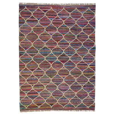 Durie Kilim Oriental Flat Weave Hand-Knotted Beige/Pink Area Rug
