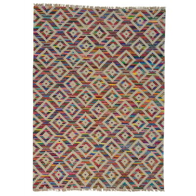 Durie Kilim Oriental Hand-Knotted Beige/Pink Area Rug