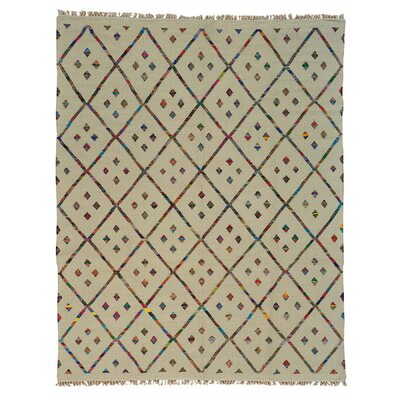Durie Kilim Oriental Hand-Knotted Ivory Area Rug Rug Size: Rectangle 9 x 117