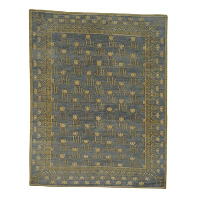 One-of-a-Kind Charboneau Tibetan Tulip Oriental Hand-Knotted Area Rug