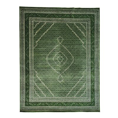 One-of-a-Kind Saltzman Mahi Tone on Tone Oriental Hand-Knotted Silk Area Rug