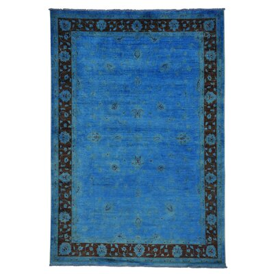 One-of-a-Kind Zuzanna Oriental Overdyed Hand-Knotted Area Rug