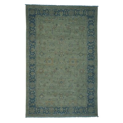 One-of-a-Kind Zuzanna Overdyed Oriental Hand-Knotted Area Rug