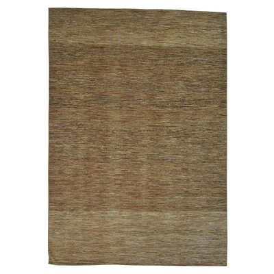 One-of-a-Kind Tasia Striped Natural Oriental Hand-Knotted Area Rug