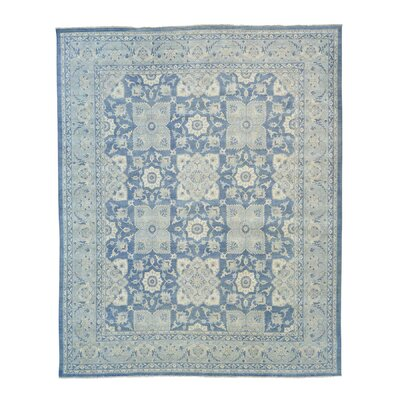 Sultanabad Oriental Hand-Knotted Blue Area Rug