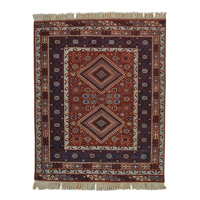 One-of-a-Kind Grasso Konya Geometric Oriental Hand-Knotted Area Rug