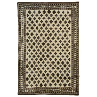 Natural Undyed Baluch Oriental Hand-Knotted Ivory Area Rug