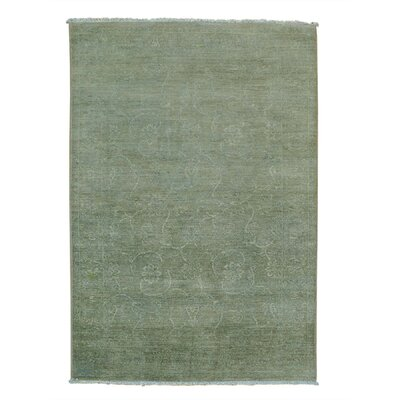 One-of-a-Kind Lavendon Light Overdyed Oriental Hand-Knotted Area Rug