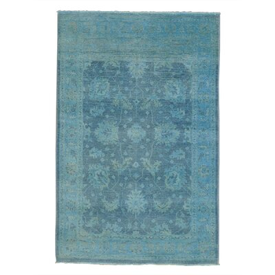 One-of-a-Kind Lavendon Overdyed Cast Oriental Hand-Knotted Area Rug