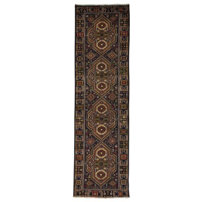 Afghan Baluch Oriental Hand-Knotted Blue Area Rug