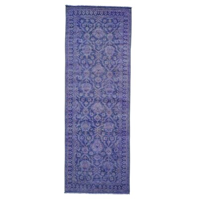 One-of-a-Kind Zuzanna Overdyed Cast Oriental Hand-Knotted Area Rug