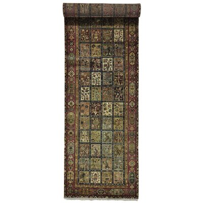 Bakhtiari Garden Oriental Hand-Knotted Light Brown/Light Green Area Rug