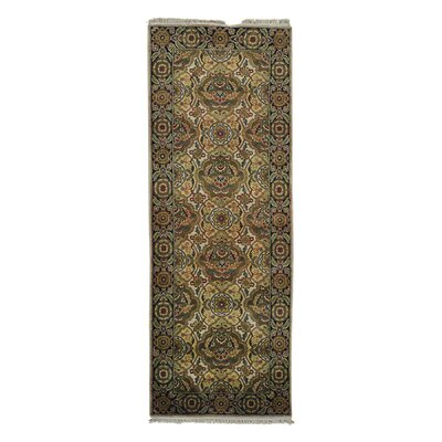 Crafts Oriental Hand-Knotted Ivory Area Rug