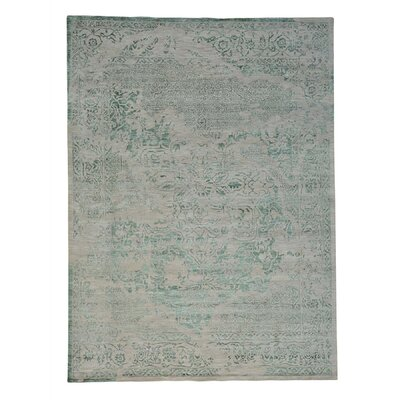 One-of-a-Kind C�lia Hand-Knotted Green Area Rug