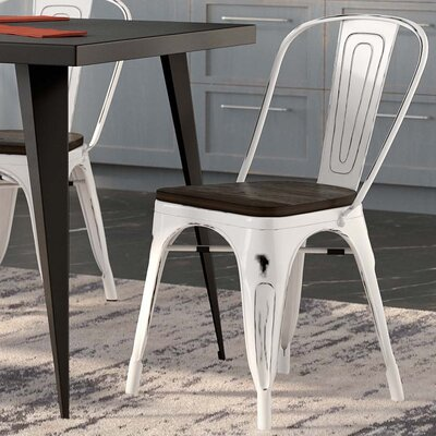 Ashlyn Solid Wood Dining Chair Color: White