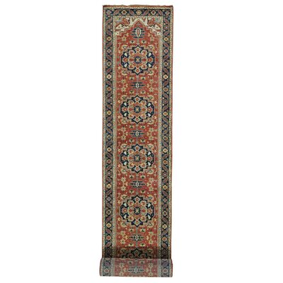 One-of-a-Kind Rueter Re-creation Oriental Hand-Knotted Area Rug Rug Size: Runner 27 x 198