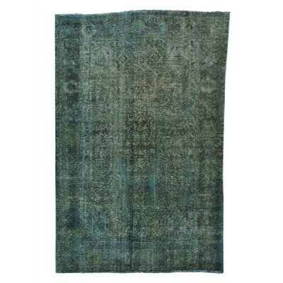 One-of-a-Kind Lear Overdyed Vintage Oriental Hand-Knotted Area Rug