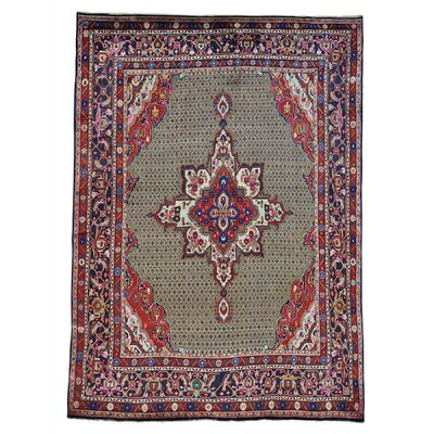 One-of-a-Kind Samford Hamadan Camel Hair Oriental Hand-Knotted Area Rug