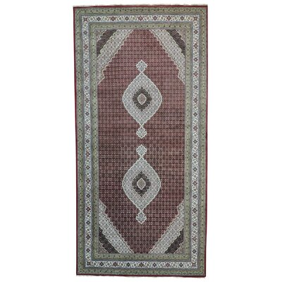 One-of-a-Kind Samons Gallery Oriental Hand-Knotted Silk Area Rug