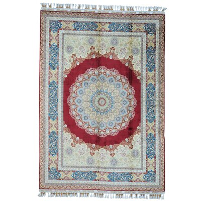 One-of-a-Kind Gries 400 kpsi Oriental Hand-Knotted Silk Area Rug