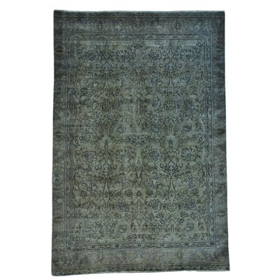 One-of-a-Kind Matheus Overdyed Worn Down Oriental Hand-Knotted Area Rug