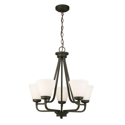 Cintron 5-Light Candle-Style Chandelier Finish: Matte Bronze