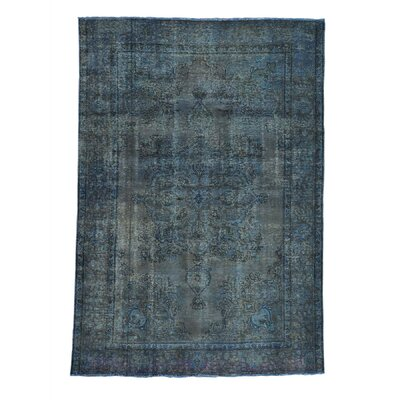 One-of-a-Kind Kenilworth Overdyed Vintage Oriental Hand-Knotted Area Rug
