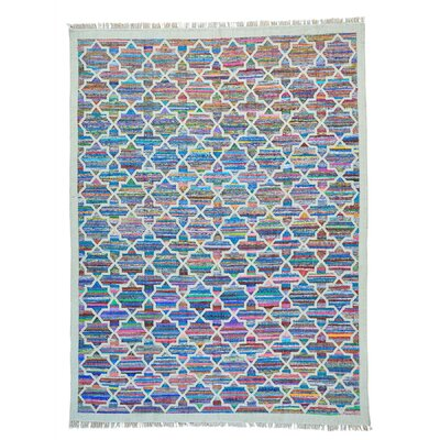 Durie Kilim Flat Weave Hand-Knotted Blue/Purple Area Rug