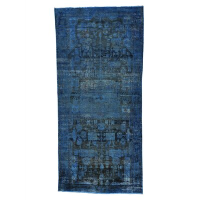 One-of-a-Kind Gracey Overdyed Nahavand Vintage Hand-Knotted Area Rug