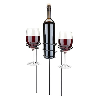 Picnic Stix Tabletop Wine Glass and Bottle Rack