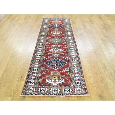 Dorcey One-of-a-Kind Super Kazak Hand-Knotted Wool Red Area Rug 5C897EE9F23349229386F149120689E4