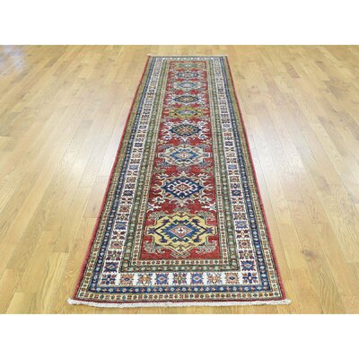 Dorcey One-of-a-Kind Super Kazak Hand-Knotted Wool Red Area Rug FA7187732B6F41FF9F02D504F69D2530