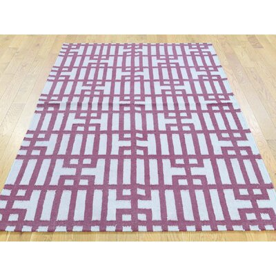 One-of-a-Kind Cilley Flat Weave Reversible Hand-Woven Wool Pink/Ivory Area Rug Rug Size: Runner 25 x 61