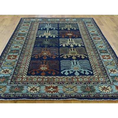 One-of-a-Kind Holloman Ersari Hand-Knotted Wool Blue Area Rug