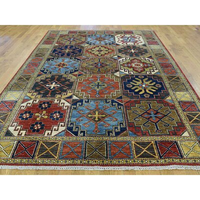 One-of-a-Kind Holloman Ersari Hand-Knotted Wool Red/Green Area Rug