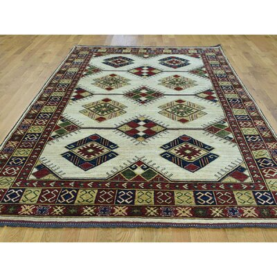 One-of-a-Kind Holloman Ersari Hand-Knotted Wool Green/Ivory Area Rug