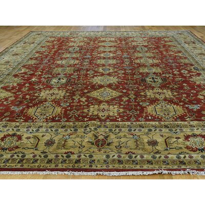 One-of-a-Kind Pietsch Hand-Knotted Wool Red/Gold Area Rug