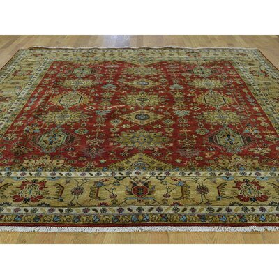 One-of-a-Kind Pietsch Hand-Knotted Wool Red Area Rug