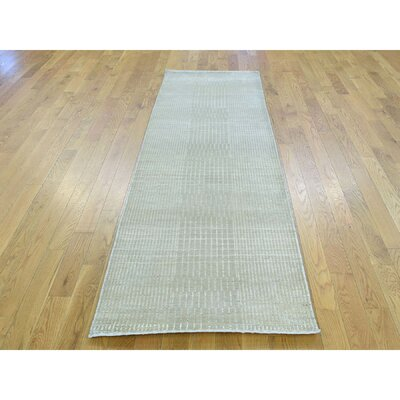 One-of-a-Kind Jeffrey Nepali Hand-Knotted Gray Area Rug