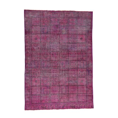One-of-a-Kind Overbay Overdyed Bakhtiari Hand-Knotted Wool Pink Area Rug