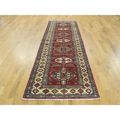 Dorcey One-of-a-Kind Kazak Super Hand-Knotted Wool Red Area Rug 1324CC7842F64E19BD6F01A3F816EA35