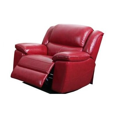 Durante Manual Swivel Glider Recliner Color: Red