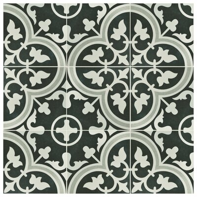 Artea 9.75 x 9.75 Porcelain Field Tile in Due