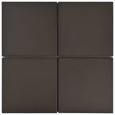 Shale Quarry 6 x 6 Ceramic Field Tile in Chocolate Black