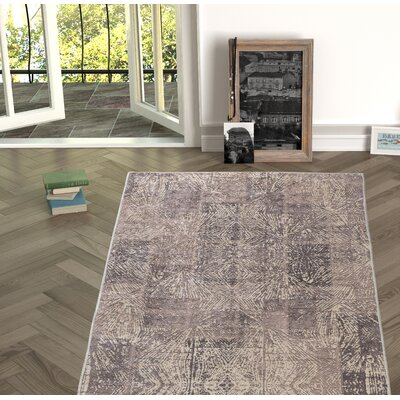Deeley Brown Indoor/Outdoor Area Rug Size: Rectangle 53 x 76